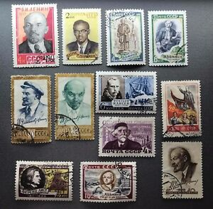 Russia  Soviet Union stamps 1957 - 1961