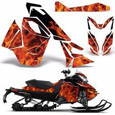 Decal Graphic Wrap Kit Ski Doo Sled Snowmobile REV XS Renegade MXZ 13+ ICE ORNGE
