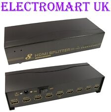 8 VIE 1 in 8 Out di Distribuzione HDMI Splitter amplificatore COMPLETO 1080p