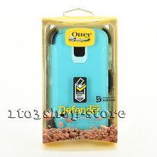 Otterbox Defender Samsung Galaxy S5/S 5 Rugged Hard Case+Holster Belt Clip Teal