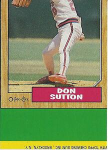 1987 O-Pee-Chee Henderson Sutton Box Bot ERROR Wrong Back