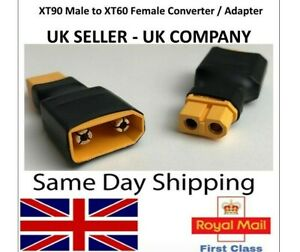XT90 Male to XT60 Female Adapter Converter Connector lipo battery Adaptor RC UK