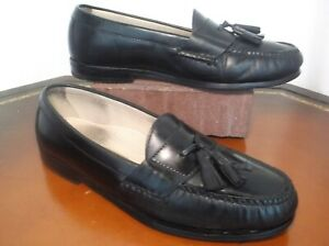 Cole Haan Tassled Pinched Toe Leather Loafers Casual Dress Shoes Men's Sz. 9 C