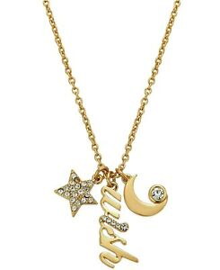 """Kate Spade """"I Give You..."""" Wish Charm Necklace NWT The Moon The Stars & Wish"""