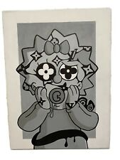 Lisa Simpson Black And White LV Hand Painted Portrait