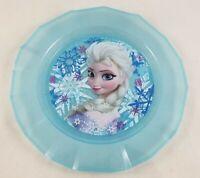 """New Disney Store Frozen Elsa 8.5"""" Dinner Dessert Blue Plate Dinnerware"""