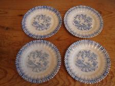 4 antichi piatti, 15cm, la Cina blu con bordo oro, tuppack