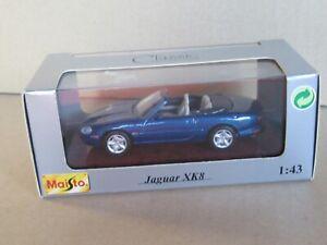 863M Maisto 31501 Jaguar XK8 Bleu Métallisé 1996 Cabriolet 1:43 + Boite