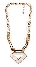 Futurista de oro de tono declaración Collar Gargantilla Supergirl Triángulo (Cl26)