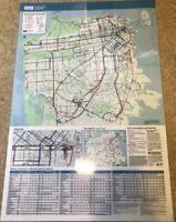 Authentic San Francisco Muni Bus Stop Map