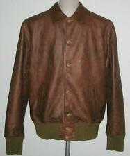 NWT Levi's VINTAGE Clothing STRAUSS Leather Jacket XL MadeIn ITALY Brown MP$1200