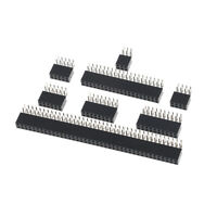 10Pcs 2.54mm double row female 2~40P PCB board right angle pin socket connec TRF