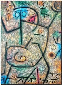 """PAUL KLEE ABSTRACT ART ~ Rumors ~ CANVAS PRINT Poster ~ 16""""X 12"""""""