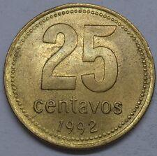 Argentinien 25 Centavos 1992