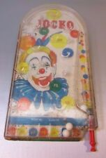VTG Jocko The Clown Pinball Game Wolverine Toy Table Marble Arcade 1960s