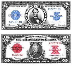 US 1923 Poker Porthole  $5&$10  REPRODUCTIONS Lincoln porthole/Jackson PokerChip