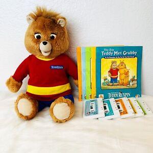 Teddy Ruxpin 1998 Talking BEAR Cassette Player Animated Plush Cassette's Books
