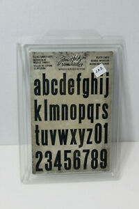 Tim Holtz Cling Foam Stamps Block Lower Letters
