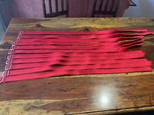 New Lot Of 11 Football Pant Belts Red