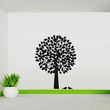 Wall Decal Tree Branch Foliage Bird Plant Trunk Flower Circle M141
