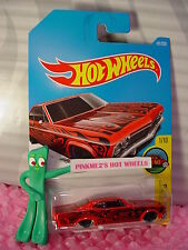 2016 i Hot Wheels '65 CHEVY IMPALA #191✰New Red; multi color✰Art Cars✰Case P/Q
