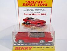 ATLAS DINKY DELUXE ASTON MARTIN DB5 METALLIC RED 110 MODEL CAR UK ISSUE