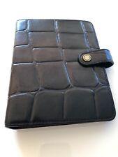 Beautiful Mulberry Agenda Filofax In Black Congo Leather Excellent Condition