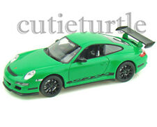 "4.5"" Welly Porsche 911 997 GT3 RS Diecast Toy Car Green With Black Wheels"