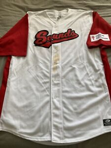 Nashville Sounds Game Used Worn Autographed Lung Jersey Halton Milwaukee Brewers
