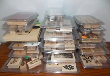 Stampin Up Lot of 20 Stamp Sets Wood Mounted Assorted Images & Sizes (#7) L1217