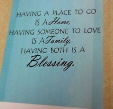 """Having Both..Blessing Wall Decor Wall Sentiment Peel n Stick Decal 22"""" x 33"""" NEW"""