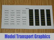 South Wales Valley Lines Destination Blinds Class 143 or Hornby 153 Bachmann 150