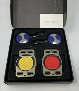 Speedplay X-Series Chrome-Moly BLUE Clipless Road Pedals with Cleats NEW IN BOX