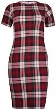 Polyester Checked Tunic Plus Size Dresses for Women