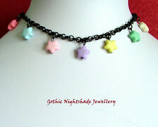 Pastel Star Choker Necklace, Pastel Goth Necklace, Kawaii Jewellery, Handmade