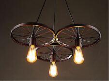 Wagon Wheel Chandelier For Dining Room For Sale 3 Light Antique Bronze Kitchen