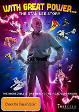 With Great Power - The Stan Lee Story (DVD, 2017) (Region 4) Aussie Release