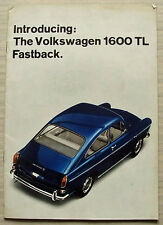 VOLKSWAGEN VW 1600 TL FASTBACK & VARIANT Car Sales Brochure 1966 #15301729