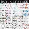 Buy 1 Get 8 Free LEMOOC Nail Art Water Decals Flower Feather Leaf Sticker Tips