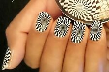 Nail Art Stamping Plates Image Plate Decoration Lace Stars Swirls Disco (hehe3)