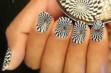 Nail Art Stamping Plates Image Plate Decoration Lace Stars Swirls Disco (hehe3)