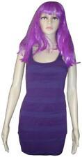 EXPRESS Super Stretchy Purple Ruffled Mesh Short Bodycon Bandage Dress SIZE XXS