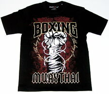 Top MUAY THAI FIGHT CLUB T-Shirt- KING OF MARTIAL ART -Kickboxen-Shorts-UFC-Gold
