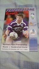 Featherstone Rovers v Huddersfield Giants 2001 Programme