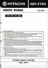 Service Manual-Anleitung für Hitachi SDT-7785
