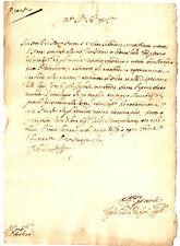 Lettera Autografo Capitano Ferdinando Grifoni Ambito Notai Pietrasanta 1634