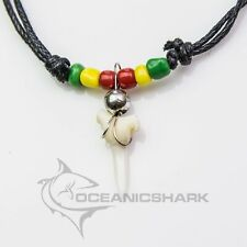 Shark tooth necklace Rasta bob marley reggae c120