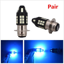 2X 5-Sided 8000K Ice Blue H6M P15D 2835 40SMD LED Car Truck Headlight Bulbs Kit