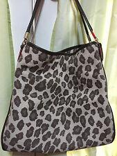 Coach - Madison Phoebe - BROWN OCELOT Leopard Print Canvas - Shoulder Bag Purse