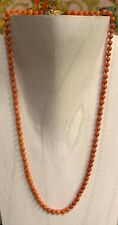 Antique Chinese 14 Grams Natural Coral Salmon Beads Necklace with 14K Gold Clasp